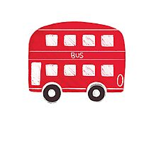 London Bus Photographic Print
