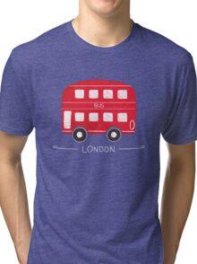 London Bus Tri-blend T-Shirt