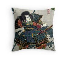 Kunisada Utagawa - Hashiba Hisakichi - Circa 1860 - Woodcut Throw Pillow