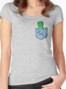 Pocket Creeper Women's Fitted Scoop T-Shirt