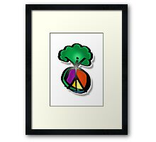 tree peace Framed Print