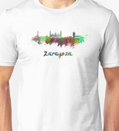 Zaragoza skyline in watercolor Unisex T-Shirt