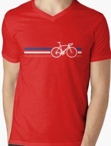 Bike Stripes French National Road Race v2 Mens V-Neck T-Shirt