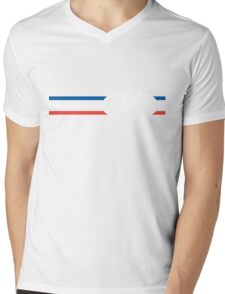 Bike Stripes French National Road Race v2 Mens V-Neck T-Shirt