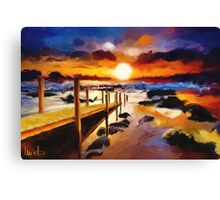 Seashore Bridge Canvas Print