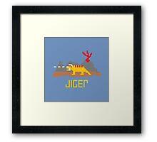Jiger Pixel Framed Print