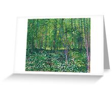 1887-Vincent van Gogh-Trees and undergrowth Greeting Card