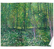 1887-Vincent van Gogh-Trees and undergrowth Poster