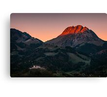 The castle at first Light Canvas Print