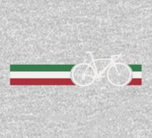 Bike Stripes Italian National Road Race One Piece - Long Sleeve