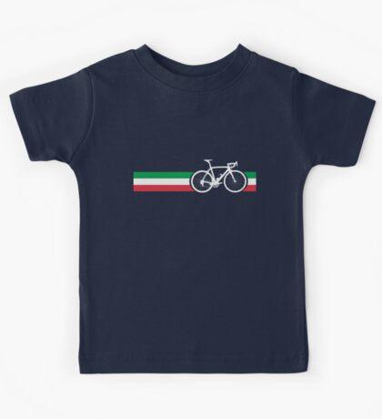 Bike Stripes Italian National Road Race Kids Tee