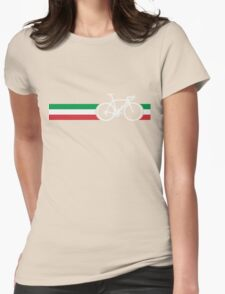 Bike Stripes Italian National Road Race Womens Fitted T-Shirt