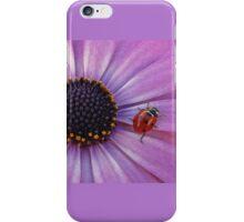 Ladybug on purple flower iPhone Case/Skin
