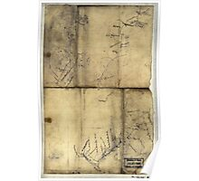 096  Sketch of the road from Somerville to Jonas Run beyond Stevensburg in Culpeper County Va Poster
