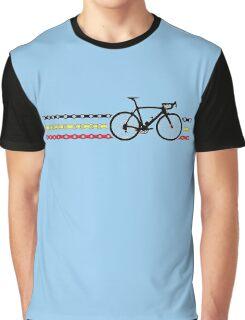 Bike Stripes Belgium - Chain Graphic T-Shirt