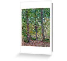 1887-Vincent van Gogh-Trees-36x46 Greeting Card