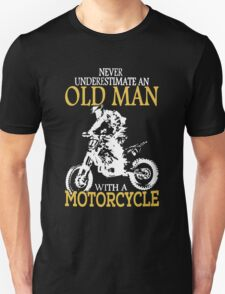 Old Man With A Motorcycle Unisex T-Shirt