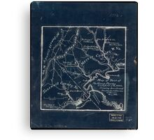 179 Map of part of the great Flat-top coal-field of Va W Va showing location of Pocahontas Bluestone collieries May 1886 Inverted Canvas Print