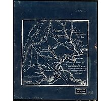179 Map of part of the great Flat-top coal-field of Va W Va showing location of Pocahontas Bluestone collieries May 1886 Inverted Photographic Print