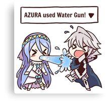 Azura used Water Gun! [Fire Emblem Fates x Pokémon] Canvas Print