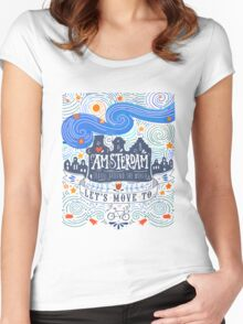 Let's move to Amsterdam Women's Fitted Scoop T-Shirt