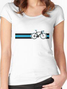 Bike Stripes Team Sky Women's Fitted Scoop T-Shirt