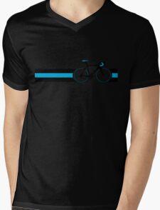 Bike Stripes Team Sky Mens V-Neck T-Shirt