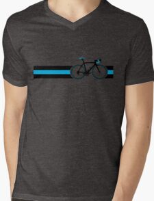 Bike Stripes Team Sky Mens V-Neck T-Shirt