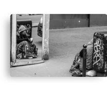 homeless mirror Canvas Print