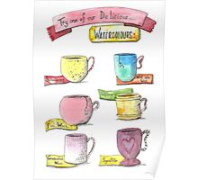 Watercolour drinks  Poster