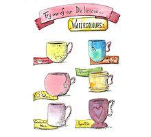Watercolour drinks  Photographic Print