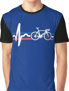 Bike Stripes France - Heartbeat Graphic T-Shirt