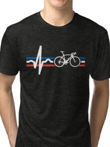 Bike Stripes France - Heartbeat Tri-blend T-Shirt