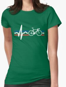 Bike Stripes France - Heartbeat Womens Fitted T-Shirt