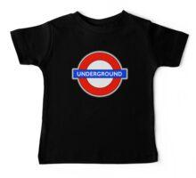 TUBE, UNDERGROUND, LONDON, ENGLAND, UK, BRITAIN, English, BRITISH, on BLACK Baby Tee