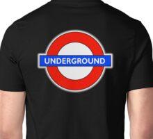 TUBE, UNDERGROUND, LONDON, ENGLAND, UK, BRITAIN, English, BRITISH, on BLACK Unisex T-Shirt