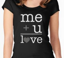 Me + u = love V.1.2 Women's Fitted Scoop T-Shirt
