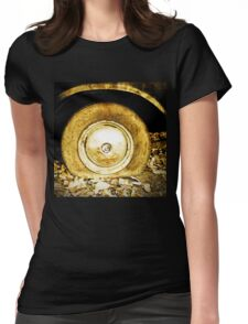 Vintage old wheel of classic car Womens Fitted T-Shirt
