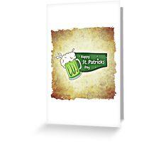Happy Saint Patrick's day beer card Greeting Card