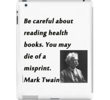 Health Books Mark Twain iPad Case/Skin
