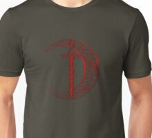 Red Celtic Moon and Sword Unisex T-Shirt