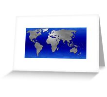 Metal Earth Map Greeting Card