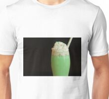 Shamrock shake on black background Unisex T-Shirt
