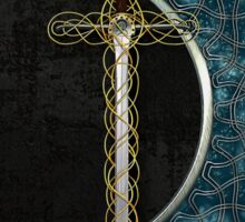 Celtic Moon and Sword Sticker