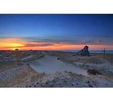Sunset on the Race Beach dunes, Cape Cod National Seashore, Massachusetts Photographic Print