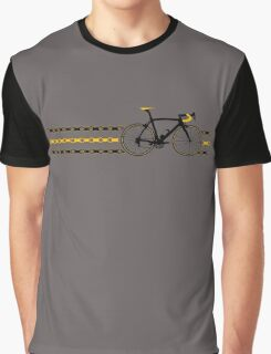Bike Stripes Yellow/Black - Chain Graphic T-Shirt