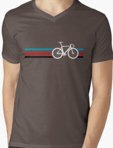 Bike Stripes Velodrome Mens V-Neck T-Shirt
