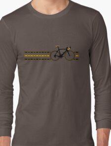 Bike Stripes Yellow/Black - Chain Long Sleeve T-Shirt