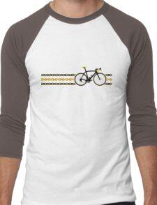 Bike Stripes Yellow/Black - Chain Men's Baseball ¾ T-Shirt