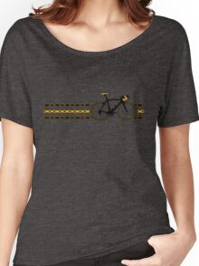 Bike Stripes Yellow/Black - Chain Women's Relaxed Fit T-Shirt